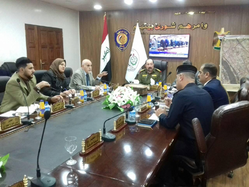 A preliminary meeting was held between the Baytalhikma and the Baghdad Police Command